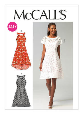 McCall's Sewing Pattern 6883 M6883 Misses 6-14 Easy Dresses Slip Neck Variations