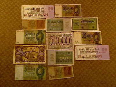 Germany - Lots Of 13 Banknotes #3-