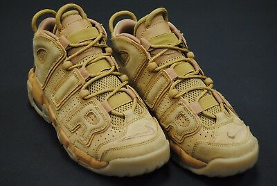 [922845 200] New Nike Kid's Gs Air More Uptempo Se Wheat Flax Gum L Brown K3386