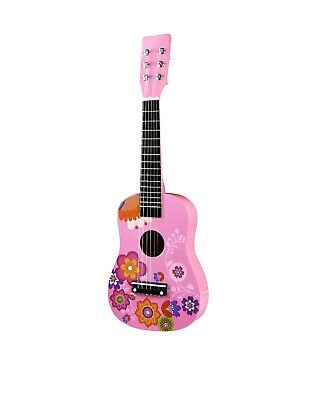 Toyslink 23 Inches 6 String Wooden Kids Pink Guitar