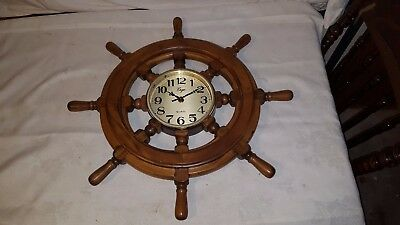 Ships Wheel Ergo Quartz Clock 21 Inch