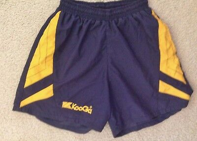 Medium Mens KOOGA RUGBY Rugby Union Shorts Blue / Yellow Pre Owned