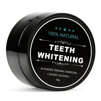 Teeth Whitening Whitener Activated Organic Charcoal Powder Strengthen Enamel DE