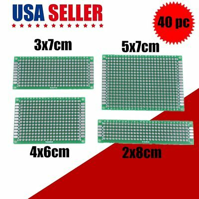 40 PCS DOUBLE sided pcb board prototype kit for diy soldering with 4 sizes  VIP