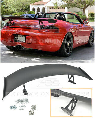 GT4 Style ABS Rear Trunk Wing Spoiler Lip For 13-16 Porsche 981 Cayman Boxster