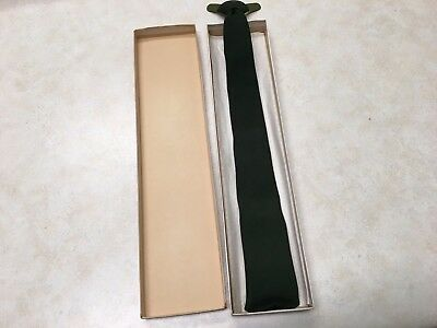 Vintage Official Boy Scout Green Clip-On Neck Tie #614 in Box