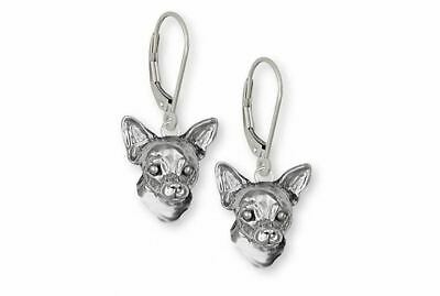 Chihuahua Earrings Jewelry Sterling Silver Handmade Dog Earrings CHH-HE