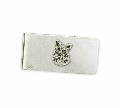 Long Hair Chihuahua Money Clip Jewelry Sterling Silver Handmade Dog Money Clip C