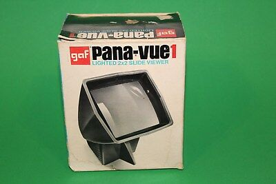 Pana-Vue 1 Lighted 2x2 Slide Film Viewer for 35mm - Vintage with Box - Works