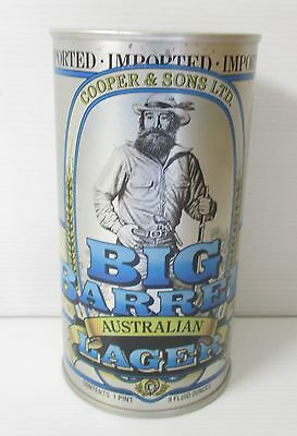 Coopers Big Barrel Lager Beer 740ml steel large can for home bar, pub collector