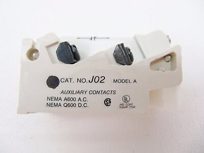 NIB Westinghouse Challenger J02 Auxiliary Contact 2 NC Model A