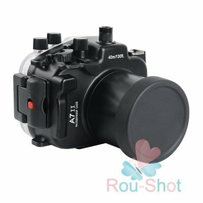 Meikon Diving 40m Camera Housing Case for Sony A7II A7SII A7RII w/ 28-70mm Lens