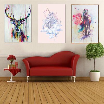 Modern Watercolor Unicorn Canvas Art Poster Prints Picture Kid Room Decoration