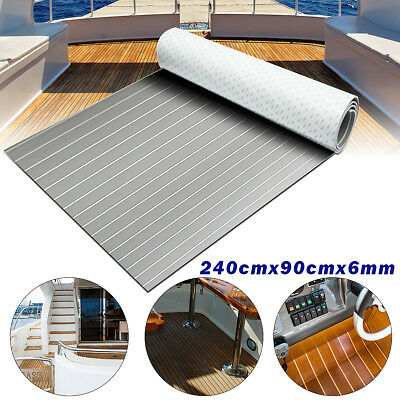 240cm x 90cm Marine Flooring Teak EVA Foam Boat Decking Sheet Carpet 2.4M Grey