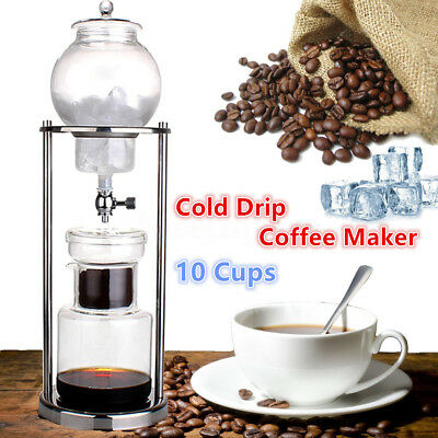 1000ml 10 Cups Dutch Coffee Cold Water Ice Drip Dripper Maker Home Office Serve