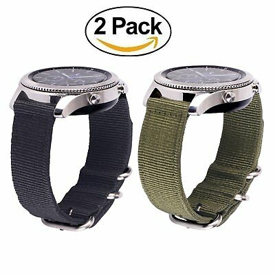 Gear S3 Bands with Quick Release Pins 22mm NATO Premium Woven Nylon Replacement