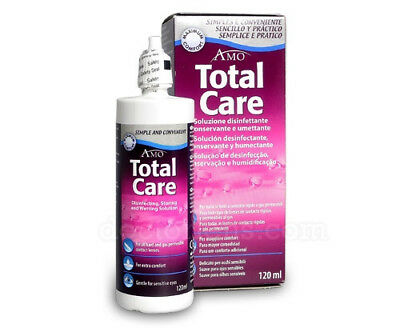 2 x Total Care Storing And Wetting Solution 120ml NEW SEALED Exp 2018 Blink