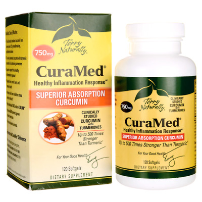 Curamed 750mg 120 Softgels by EuroPharma Terry Naturally 1 Bottle FREE SHIPPING