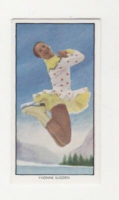 Olympic WinterGames Ice Skating Card - Yvonne Sugden
