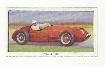 Stirling Moss Motor Racing Card driving a Maserati