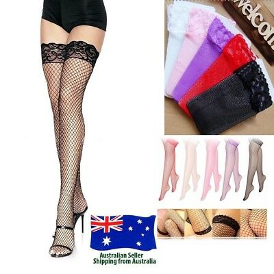 Lingerie Lace Footed Fishnet Stockings Tights Pantyhose Panty Hose One Size Fit