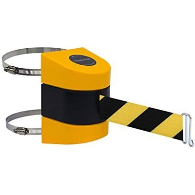 Rope Barriers Tensabarrier 897-15-C-35-NO-D4X-A Wall Clamp Mount, Yellow Caps,
