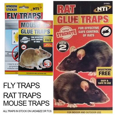Rat Mouse Fly Sticky Traps For Insects Catcher Home Work Office SAME DAY DISPATC