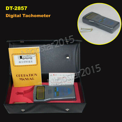 LANDTEK DT-2857 Photo/Contact Tachometer Speed Tester 2.5~99,999 RPM Speedometer