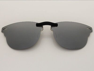 Custom Fit Polarized CLIP-ON Sunglasses For RB5154 51X21 Titanium Mirror Coating