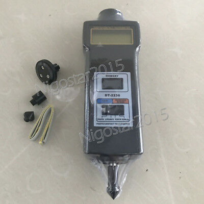 DT-2236 Photo / Contact Tachometer Laser Speedometer Meter Surface Speed Tester