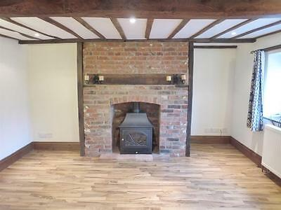 2 two bedroom semi-detached 19th century brick + flint cottage near town centre