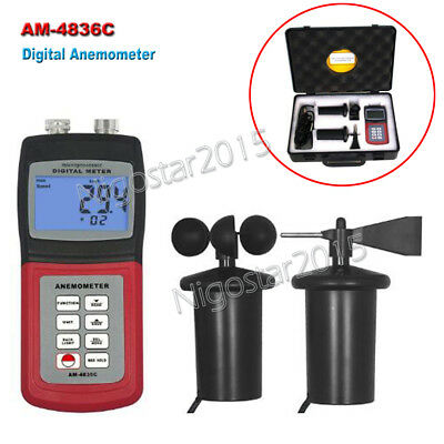 LANDTEK AM-4836C Digital Weather Anemometer Wind Speed Gauge Airflow Measurement