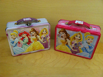 Lunch Box Disney Princess Embossed Metal Box