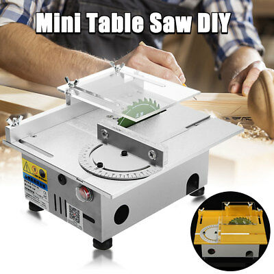 DIY Portable Bench Precision Table Saw Blade Woodworking Cutting Polish Machine