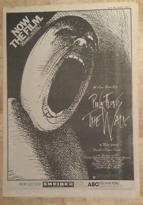 Pink Floyd The Wall  1982 press advert Full page 27 x 38 cm mini poster