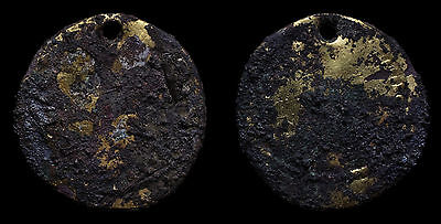 Unresearched Gold Plated Byzantine Solidus Viking Site Found Amulet Rite Pendant