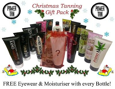 Power Tan Christmas Tanning Gift Pack Sunbed Creams Lotions Accelerators 250ml