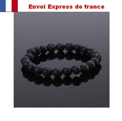 Bracelet Pierre De Lave  Bouddhiste Tibetain Lithotherapie Meditation Chakra Top