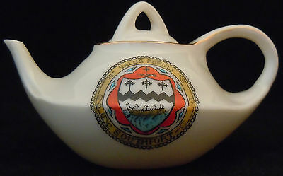 Gratfon Crested China 'Model of Aladdin's Lamp Style Teapot' - Southport Crest