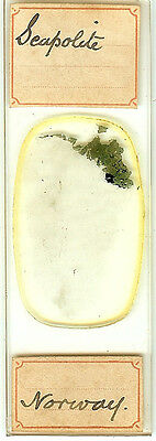 Seapolite from Norway Microscope Slide for Polariscope