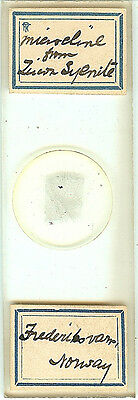 Microcline from Zircon Syenite from Norway Petrographic Microscope Slide