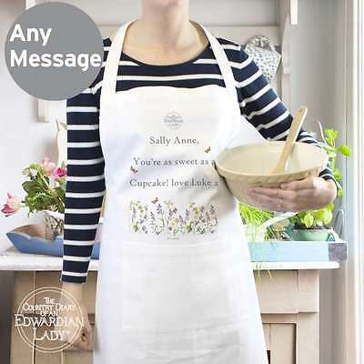 Personalised Country Diary Wild Flowers Apron Polycotton Cooking Aprons Gift
