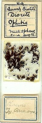 Ophitic Diorite from Chasma in Armenia Petrographic Microscope Slide
