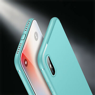 Luxury Ultra Thin Slim Silicone TPU Soft Bumper Case Cover iPhone X 6s 7 8 Plus