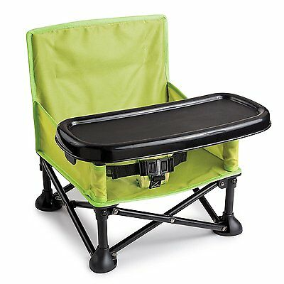 Summer Infant Pop N' Sit Portable Booster, Green Portable Booster Seat, NEW- 745