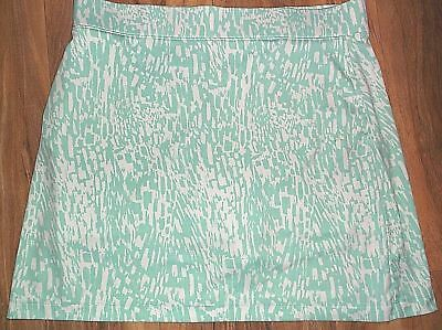 Links Edition Womans Green & White Polyester Skort Shorts Skirt Size L Lk Nw