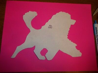 Portuguese Water Dog gaiting#2 Car Magnet Hand Cut & Painted U pick style color
