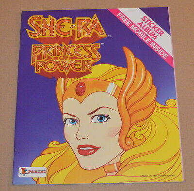 1986 PANINI She-Ra Princess of Universe Empty Album Masters Of the Universe