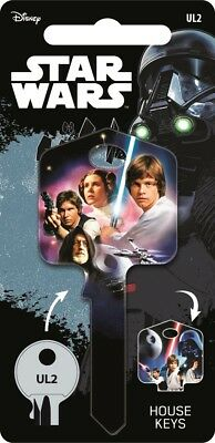 Star Wars A NEW HOPE Painted Licensed UL2 Universal 6-Pin Cylinder Key Blank