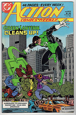 Action Comics #602 & 622 VF LOT (7) GREEN LANTERN Superman Blackhawk Deadman